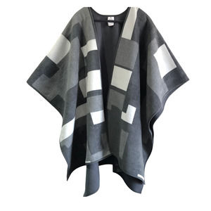 Woolrich Reversible Plaid Blanket Poncho Cape OS